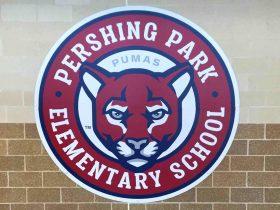 Pershing Park mascot mural